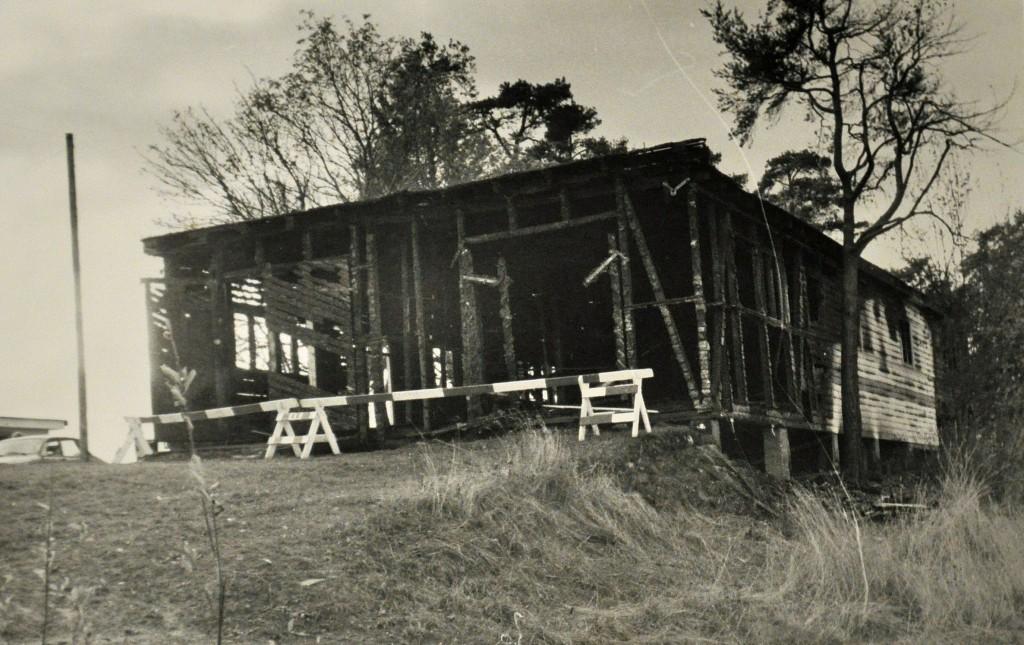 Hamar Roklub 09-09-1980 Utbrent båthus
